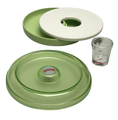 Margaritaville AD2000 Salt Rimmer and Lime Serving Set, Green, 4-Piece