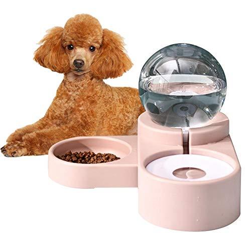 SNIIA 2 in1 voeder waterdispenser voederautomaat voor honden katten fles plastic