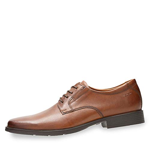 Clarks Tilden Plain, Derby homme - Marron (Dark Tan Lea), 43 (9 UK)