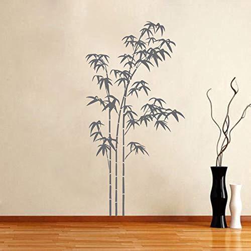 Vinyl muursticker bamboe plant patroon verwijderbare muurtattoo slaapkamer auto woondecoratie poster 85x160cm