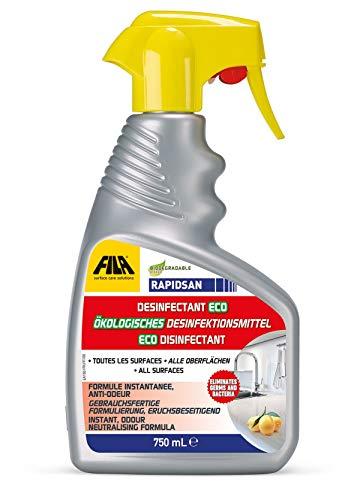 FILA RAPIDSAN 750 ml Desinfektionsmittel gegen Keime, Bakterien und Viren für alle Oberflächen - Kinder- und Tierverträglich