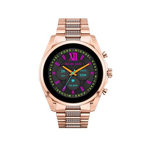 Michael Kors Gen 6 Bradshaw Stainless Steel Smartwatch, Rose Gold Tone Pave-MKT5135V