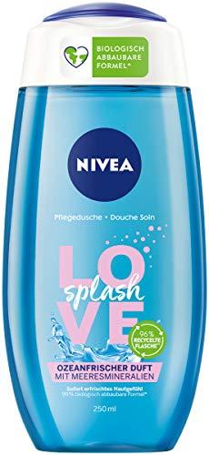 NIVEA Pflegedusche Love Splash (250 ml), erfrischendes Duschgel mit Meeresmineralien, Dusche mit ozeanfrischem Duft und samtweichem Schaum