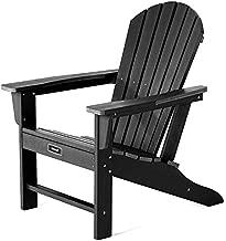 SERWALL Adirondack Chair   Adult-Size, Weather Resistant for Patio Deck Garden, Backyard & Lawn Furniture   Easy Maintenance & Classic Adirondack Chair Design (Black)