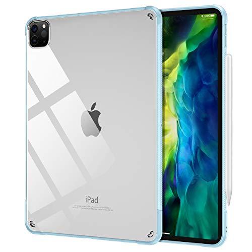 TiMOVO Funda para New iPad Pro 11 Inch 2020 (2nd Generation), Suave Case con Soporte de Cargar/Par para Apple Pencil, TPU Flexible con Borde de Almohada de Aire para iPad Pro 11' 2020 - Azul Claro
