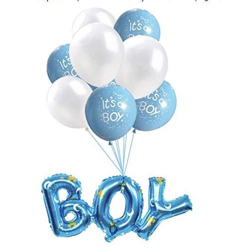 Babyshower Versiering Pakket - It's a Boy - 9 stuks - Luxe Baby Shower Helium Balonnen Set - Baby Boy Folie Ballon - Geboorte Feest Cadeau Jongen