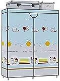 Coffee Table FHW Sin instalación Plegable Armario Moderno Dormitorio Familia Dormitorio Arte Arte Arte Mueble Alquiler de Marco de Acero Sala Simple Dormitorio Paño Ward Armario