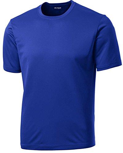 Dri-Equip Youth Athletic All Sport Training Tee Shirt,L-True Royal