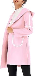 maweisong 女性フードジッパーウォームスリムジャケット厚パーカーオーバーコートアウト