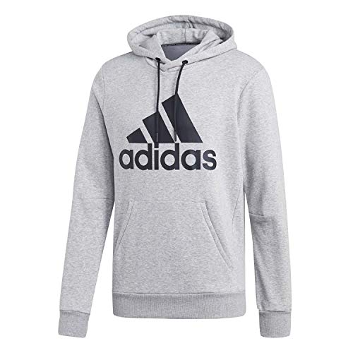 adidas Herren MH BOS PO FT Sweatshirt, medium Grey Heather/Black, L