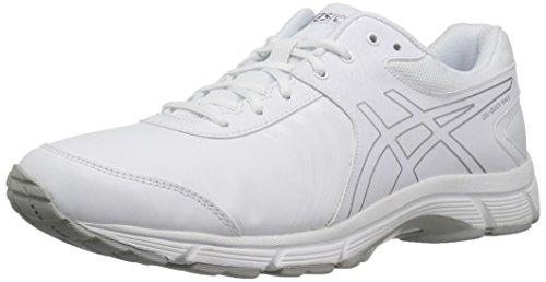 ASICS Men's Gel-Quickwalk 3 SL Walking Shoe, Silver/White, 10 M US