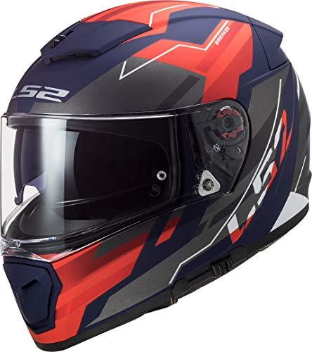 Casco moto LS2 FF390 BREAKER BETA MATT RED BLUE, Nero/Rosso, M