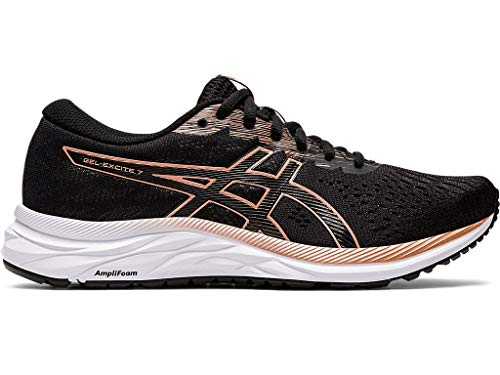 ASICS Womens Gel-Excite 7 Running Shoe, Black/Rose Gold, Size 8.5 Wide