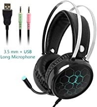 MeterMall New Eat Chicken Gaming Earphones Stereo PC Bass with Mic Wired Vibration Games Headphoe for PUBG Earphones