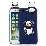 Wubao Cover iPhone 8 Plus, Bello 3D Unicorno Silicone Morbido Animali Modello Antiurto AntiGraffio Flessibile Gomma Custodie Protettivo Cover per Apple iPhone 7 Plus
