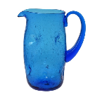 7018 Crackled Dimple Pitcher - Blenko Glass Company