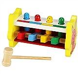 Fishem Baby Junge Mädchen Pädagogische Entwicklung Holz Perkussion Spielzeug Pound Tap Schlagen Klopfen Tisch 1-2 Jahre alt Bauklötze & Bausteine