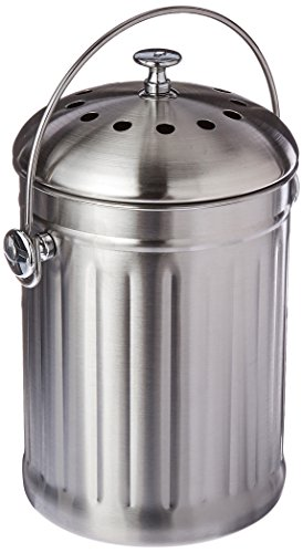 Best Bargain Good Ideas Kitchen Accents Composter, Stainless Steel (KASS3Q)
