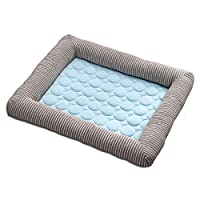 ChaoShuo Dogs-用マットを冷却春と夏にはあなたのペットのクールを保ち、ポータブルおよびキャンプ旅行ペットマット (Color : Blue, Size : 70*52cm)