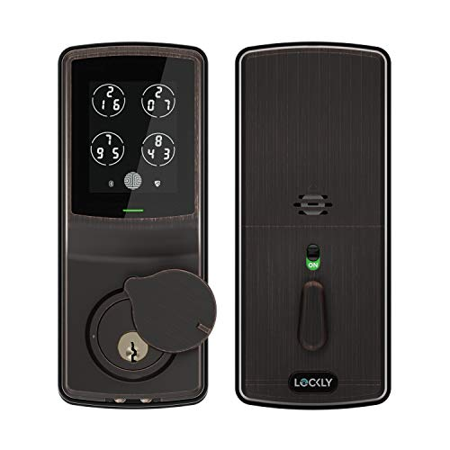 Lockly Bluetooth Keyless Entry Door Smart Lock (PGD728) | Advanced Electronic Touchscreen System |...
