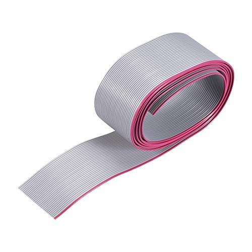 Cable de cable plano de 1 m de largo x 1 mm de largo x 1 mm de ancho con 30 pines, color gris para conector AWM 2651