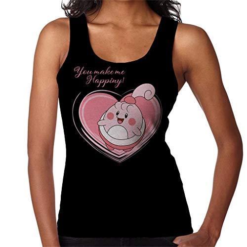 Love Happiny Women's Vest Black