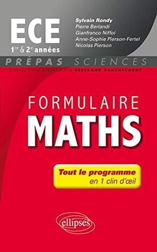 Formulaire Maths Ece Première & Deuxième Annee