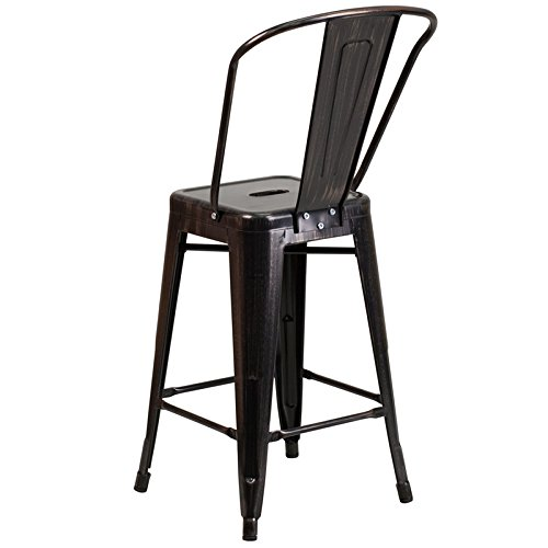 DiscountRoomDecor Premium Quality Antique Metal Bar Stool CH-31320-24GB-BQ-GG