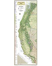National Geographic Maps: Pacific Crest Trail, Boxed: Wall Maps History & Nature