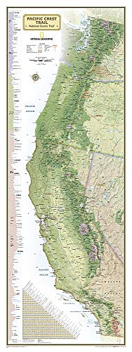National Geographic Maps: Pacific Crest Trail, Boxed: Wall Maps History & Nature (National Geographic Reference Map)