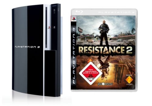 Playstation 3 - Konsole 80 GB inkl. Dual Shock 3 Wireless Controller + Resistance 2