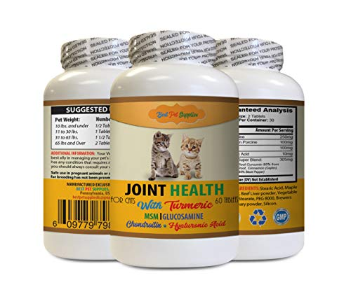 Cats Hip Supplement - CAT Joint Health with Turmeric - Best Joint Support Formula - glucosamine chondroitin Cats - 1 Bottle (60 Treats)