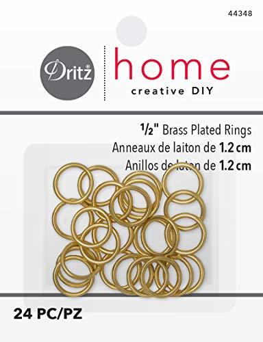 Dritz Home 44348 Messingbeschichtete Ringe, 1/2 Zoll (24 Stück)