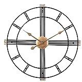 Uziqueif Groß Wanduhr Ohne Tickgeräusche Uhr Lautlos Metall 50Cm Wanduhr Vintage Wanduhr Dekorative Für Wohnzimmer Küche Büro Und Schlafzimmer,A