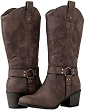 GLOBALWIN Women's 19YY18 Brown Cowboy Boots 10M