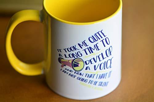 Taza de café divertida taza de té, regalo feminista con frase inspiradora, regalo para mamá, papá, conmemoración, taza de cerámica de 11 onzas