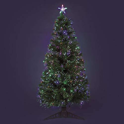Albero artificiale verde a fibre ottiche, 160 cm, led multicolor plus, alberi di Natale finti, alberelli colorati, alberi di Natale con fibre ottiche