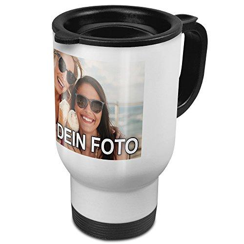PhotoFancy® - Thermobecher mit Foto Bedrucken - Coffee to Go Becher Personalisieren - Thermo-Tasse mit eigenem Motiv selbst gestalten