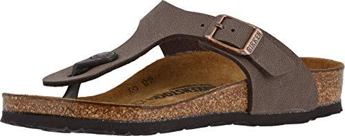 Birkenstock Gizeh Kid's Mocha Birkibuc Sandal 32 N EU (US 1-1.5 Little Kid)