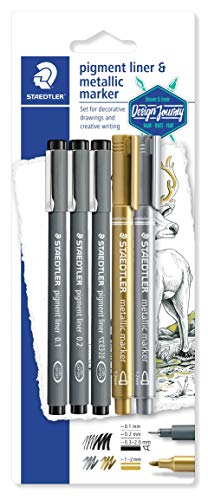 STAEDTLER Pigment Liner 308 SBK3P3 - Blister Set Creativo co