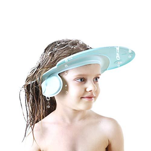 Kylewo Baby Duschhaube Wasserdicht Cap Einstellbar Haarwäsche Hat Sicherheit Visier Cap Shampoo Bad Bade Dusche Schild Schutz verstellbar Safe Shampoo
