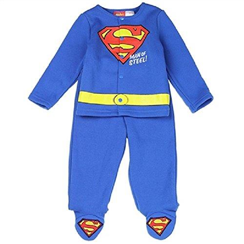 Superman Ensemble de 2 pieds avec licence officielle pour bébé garçon - Bleu - 6-9 mois