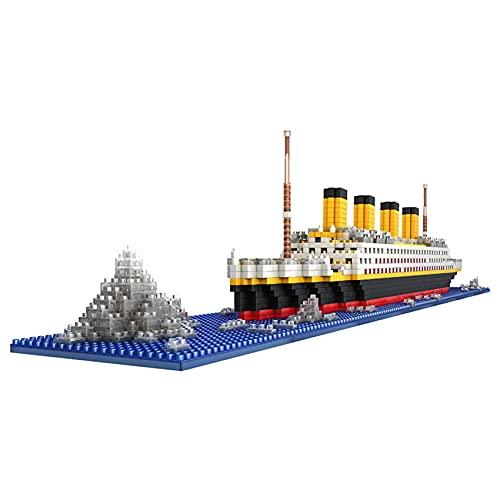 LGH Titanic Ship Model Nano Building Blocks, 1860 Piezas Custom Titanic Construction Crane Technic Building Gifts