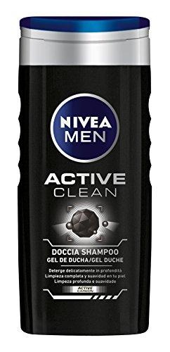 Nivea Men Active Clean Doccia Shampoo Uomo, 250 ml