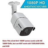 Cámara de Seguridad de Bala 1080P 2.0MP HD, cámara de vigilancia de CCTV Interior/Exterior Impermeable/a Prueba de Polvo a Prueba de Polvo, híbrida 4-en-1 AHD/TVI/CVI / 960H de COSOOS