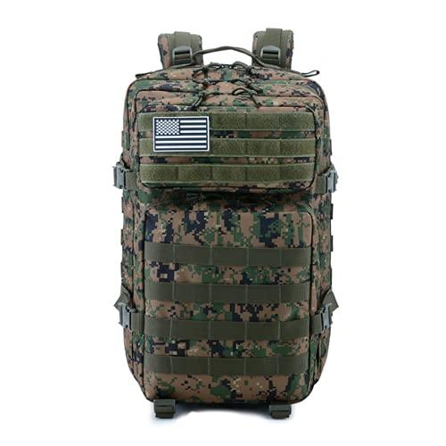 45L Camouflage Tattico Impermeabile Zaino Outdoor Trekking Zaino Alpinismo Campeggio Zaino Militare Assalto Stile Zaino, Verde militare, Taglia unica