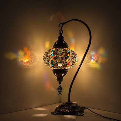 Mehrfarbiger Lampenschirm, handgefertigt, Mosaik, türkisch/marokkanische Lampe, Tischlampe, Laterne, Nachtlicht