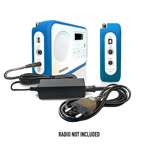 ABC Products® Ersatz Sangean Akku Ladegerät, Netzteil, Netzadapter, Netzanschluss DC 7.5V, 7.5 Volt für DCR-9 + Plus, DCR-200, DPR-16, DPR-67, DPR-69 + Plus, DPR-17, DPR-77, MMC-96i RS, RCR-7, RCR-7WF, WFR-28, WFR-28C, WFR-28D Digital Radio etc