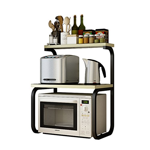 KXBYMX Küchenregal, Doppel-Backofen Mikrowelle Rack multifunktionale Küche Lagerregal Lagerregal (Color : A)