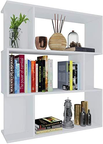 Lyrlody - Scaffale per libri a 3 livelli, 6 cubi, libreria separata, in legno truciolato, per soggiorno, cucina, studio, camera da letto, balcone, corridoio, 80 x 24 x 96 cm